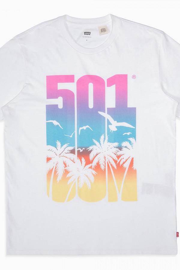 Levis Erkek T-shirt 501-Graphic-Tee-26572-0037