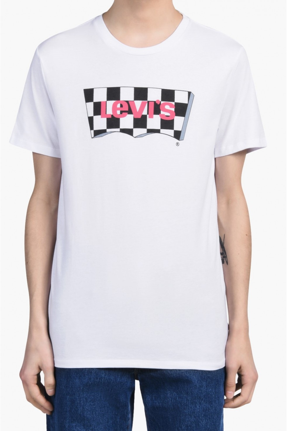 Levis Erkek T-shirt-Housemark-Graphic-Tee-22489-0080
