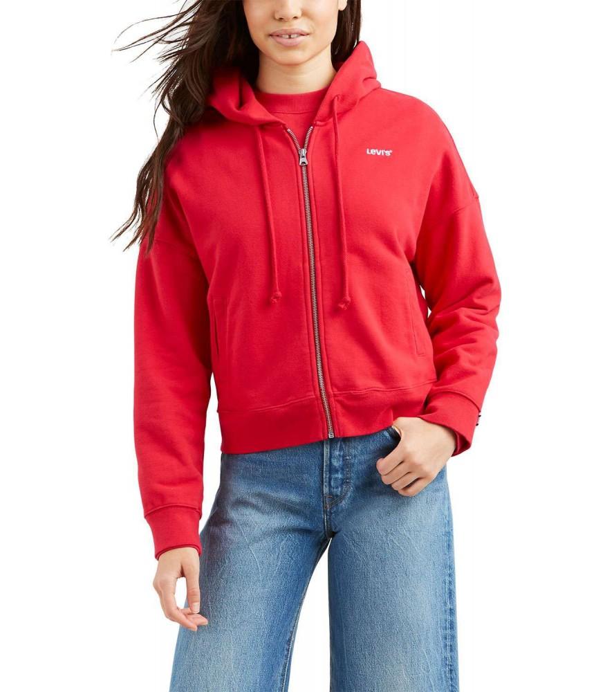 Levis Bayan Sweatshirt Logo Trım Hoodie 69642-0000